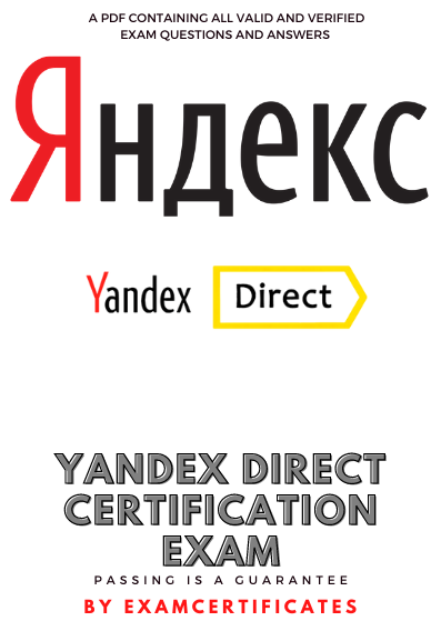 Yandex Direct Exam Answers