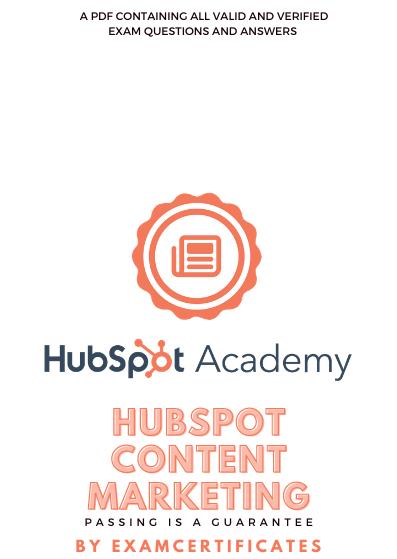 Hubspot Content Marketing Exam Answers