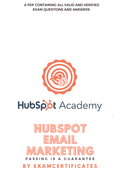 HubSpot Email Marketing Certification Exam answers