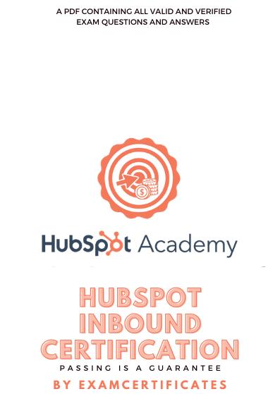 HubSpot Inbound Certification Exam answers