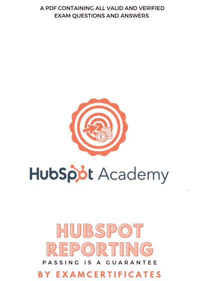 HubSpot Reporting Certification exam