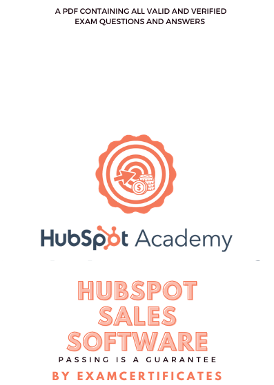 HubSpot Sales Software Certification Exam answers