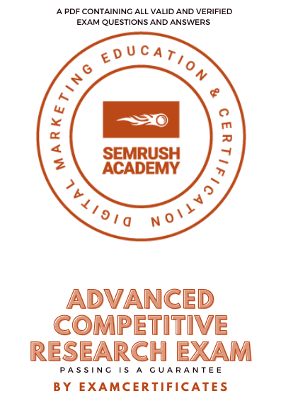 Semrush Advanced Competitive Research Exam Answers Pdf