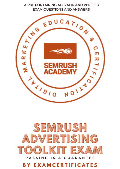Semrush Advertising Toolkit Exam Answers Pdf