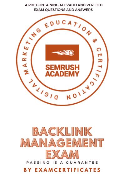 Semrush Backlink Management Exam Answers pdf