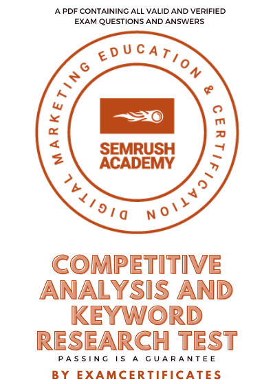 semrush competitive analysis and keyword research test answers pdf