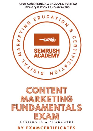 Semrush Content Marketing Fundamentals Exam answers pdf