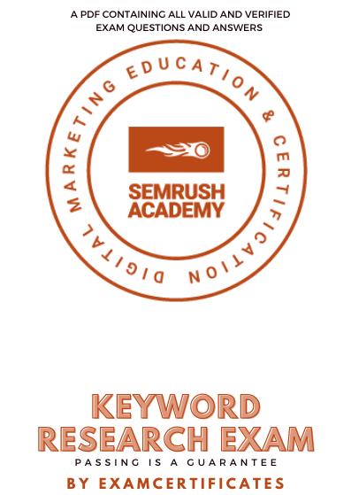 Semrush Keyword Research Exam Answers pdf