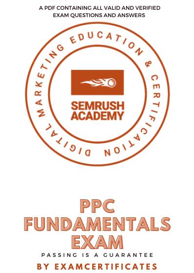 Semrush PPC Fundamentals Exam answers pdf
