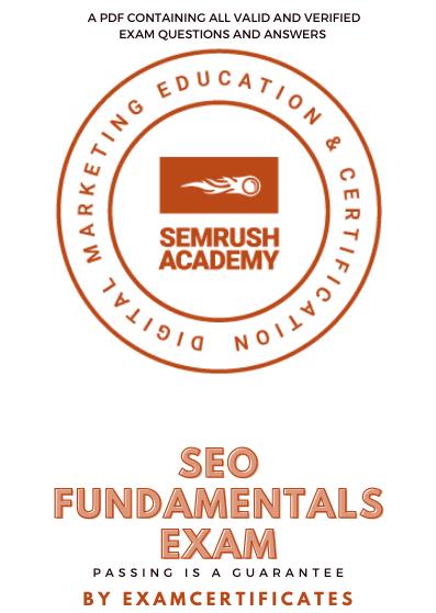 Semrush SEO Fundamentals Exam Answers pdf