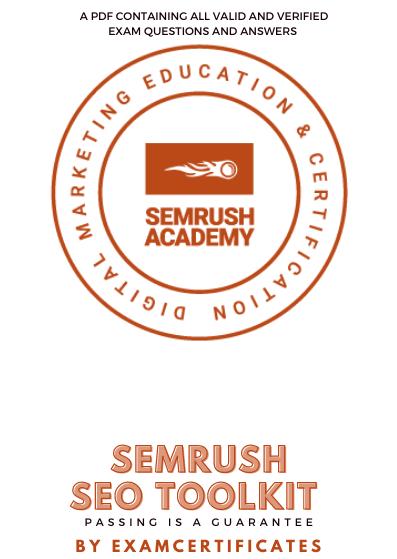 Semrush SEO Toolkit Exam Answers pdf