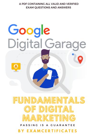 Google Digital Garage Fundamentals of digital marketing quiz exam answers pdf