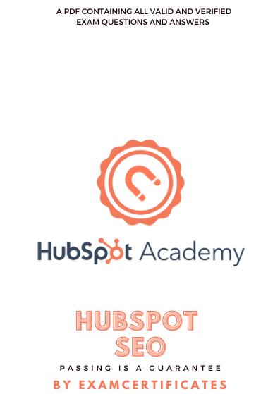 Hubspot SEO Certification exam