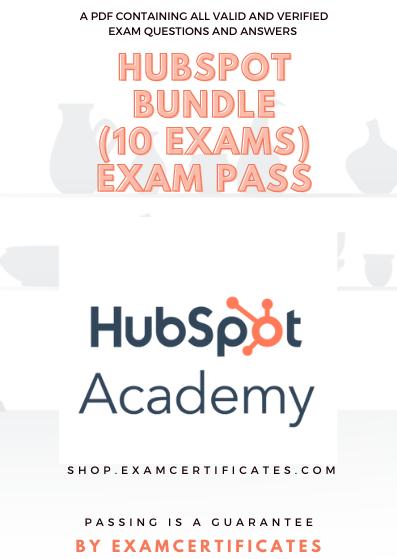 Hubspot Certification Exams Pass Bundle